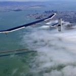 Solar Impulse soars over the Golden Gate Bridge