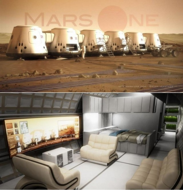 Mars One permanent human settlement