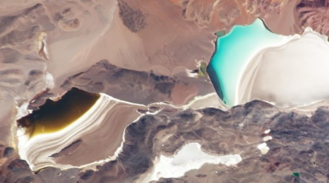 Laguna Verde in the high Andes