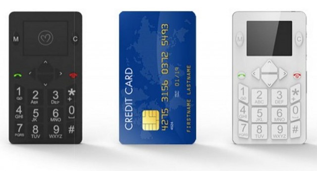 Micro-Phone credit-card sized mobile