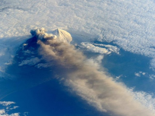 Pavlof Volcano from Space Station