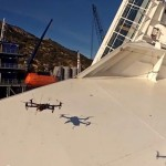 Quadcopters cameras capture the Costa Concordia