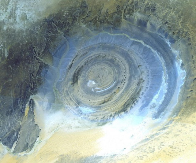 Richat Structure in the Sahara Desert