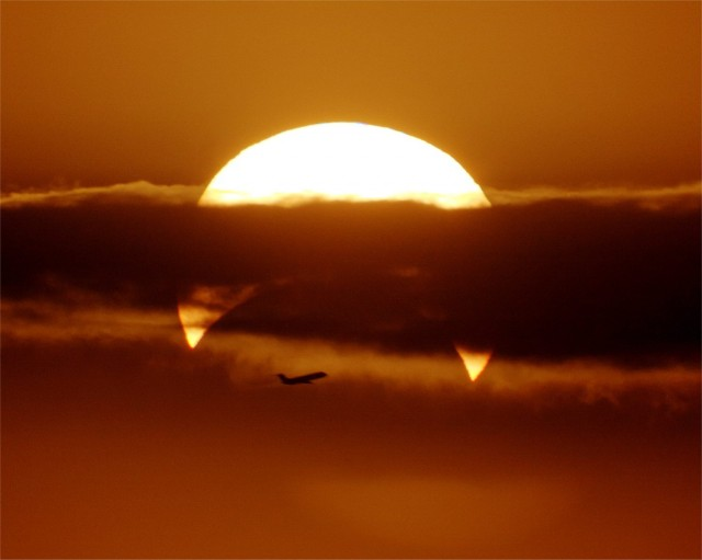 Solar Eclipse with Airplane