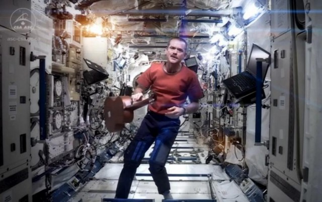 Space Oddity in Space