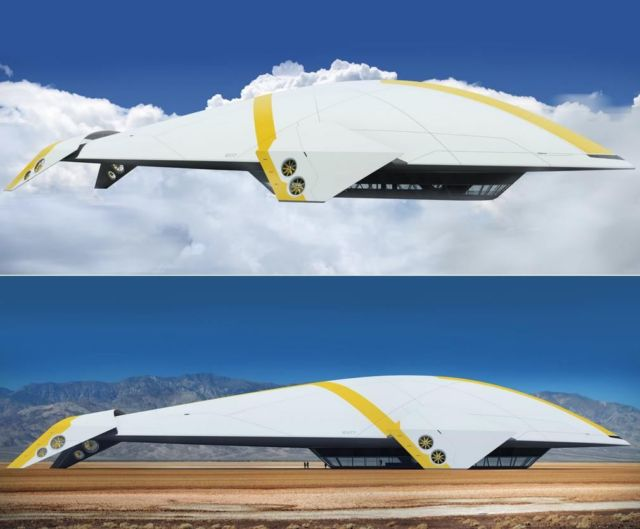 Aether luxury cruise airship concept by Mac Byers