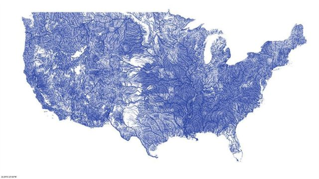 All of the rivers in USA