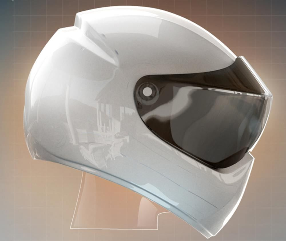 Moto Helmet with a Heads-Up Display