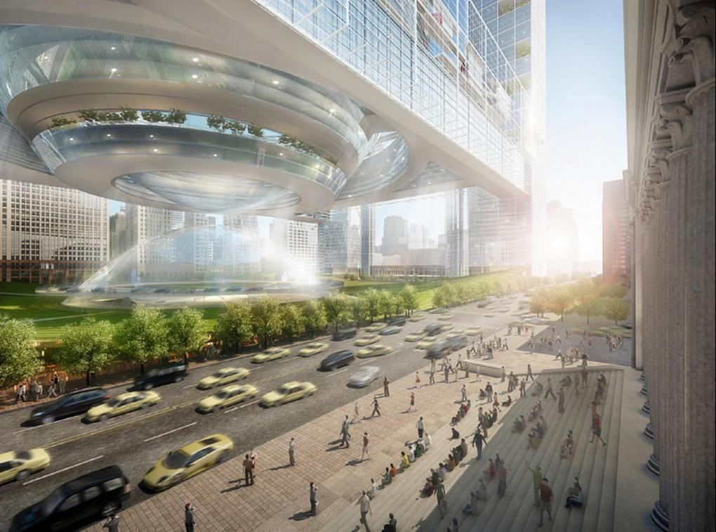 New penn station proposal by som wordlesstech Grand central to madison square garden