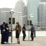 Solar-Powered Street Charging Stations by AT&T