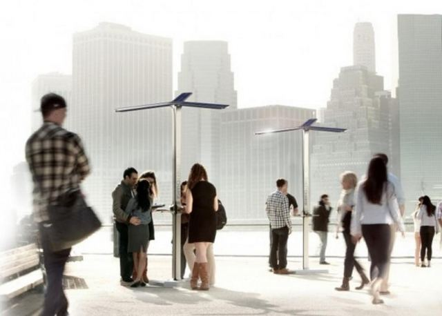 Solar-Powered Street Charging Stations by AT&T (3)