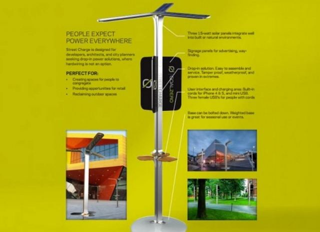 Solar-Powered Street Charging Stations by AT&T (2)