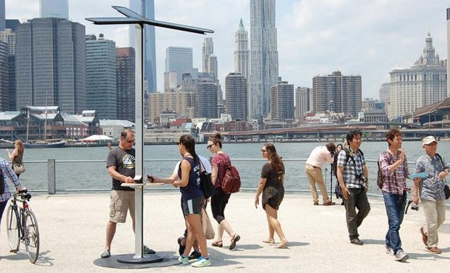 Solar-Powered Street Charging Stations by AT&T (1)
