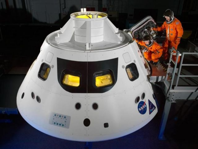 Stepping into the Orion Crew Module