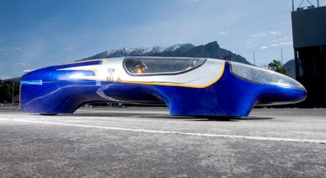 Student-designed car runs 1300 MPG