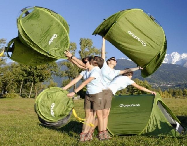 Tent by Quechua can be used in 2 Seconds & Tent by Quechua can be used in 2 Seconds | wordlessTech