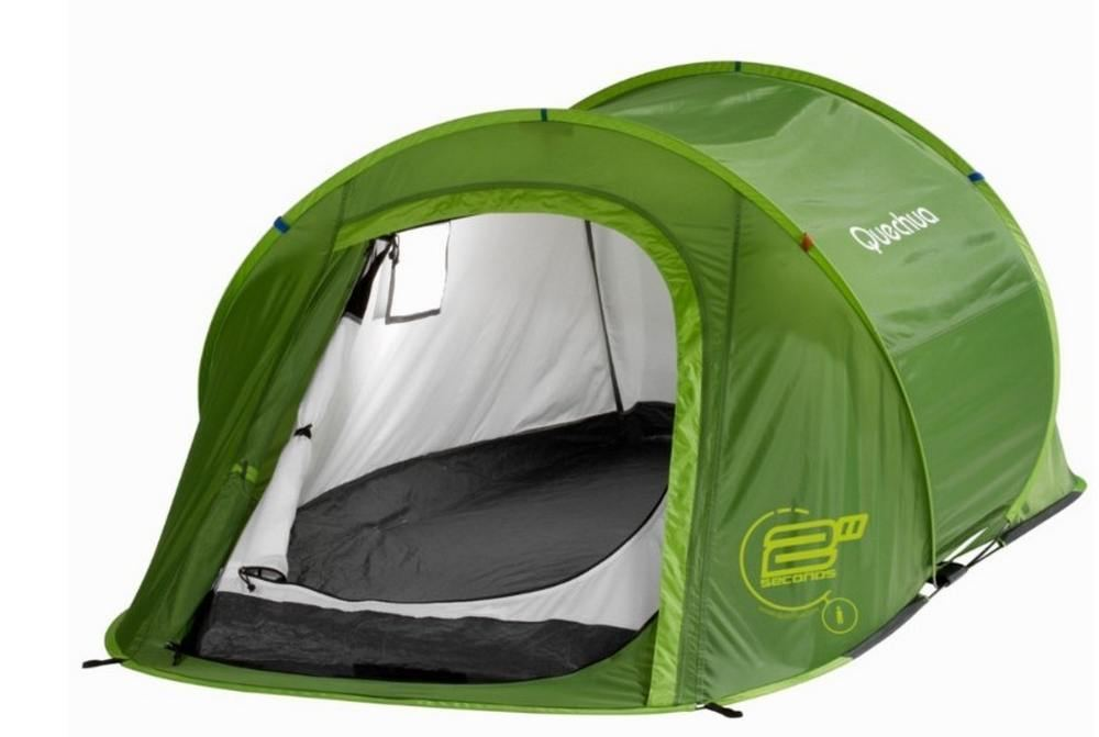 Tent In A Can : Wordlesstech tent by quechua can be used in seconds