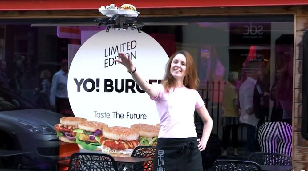 iTray world's first flying waiter by YO! Sushi