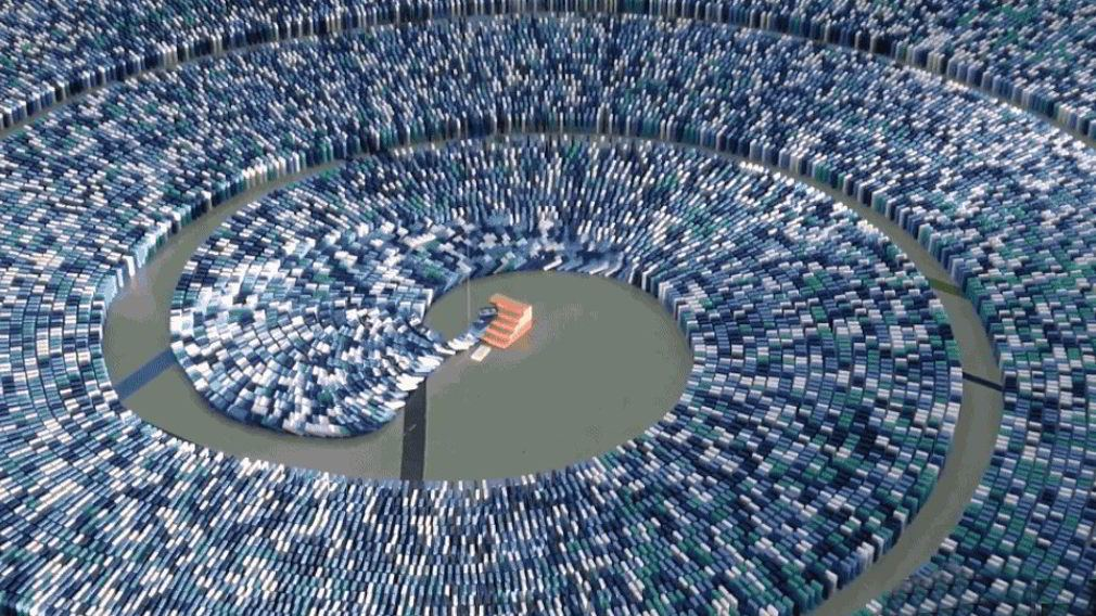 275,000 Dominoes setting new record