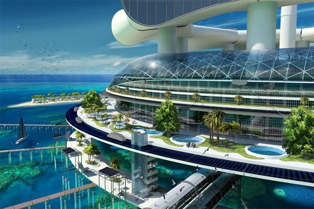 WordlessTech  Futuristic Grand Cancun Eco Tourism Resort