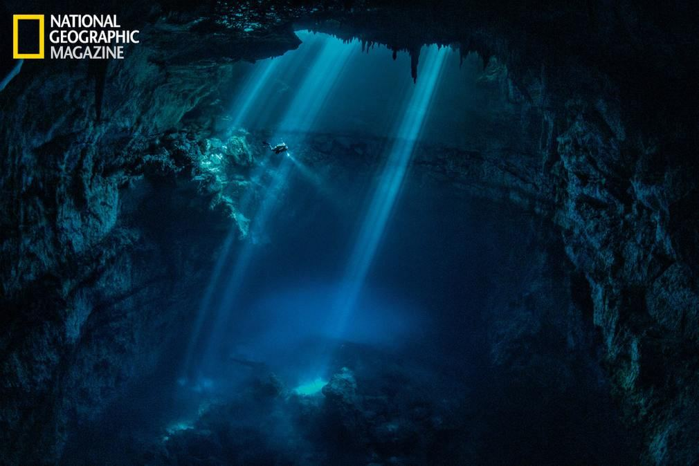 A cenote near the Maya ruins of Tulum