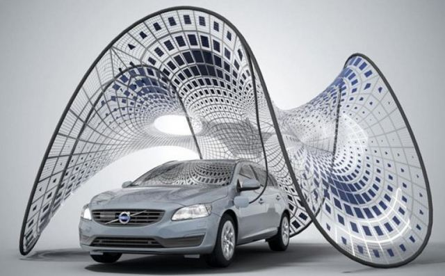 Volvo Pure Tension Solar Charging pavilion concept 1