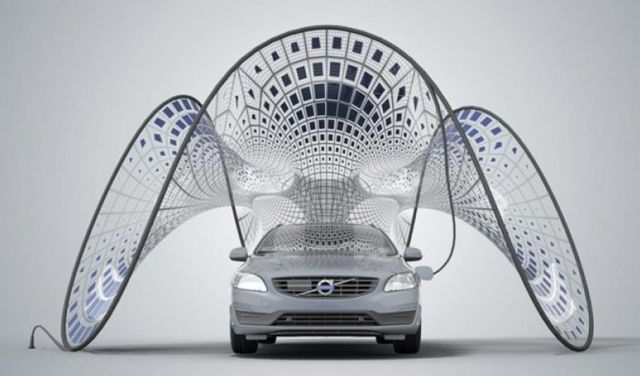 Volvo Pure Tension Solar Charging pavilion concept 2