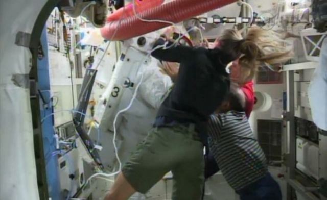 Water floating in Helmet forces ISS Astronauts to abort Spacewalk 3
