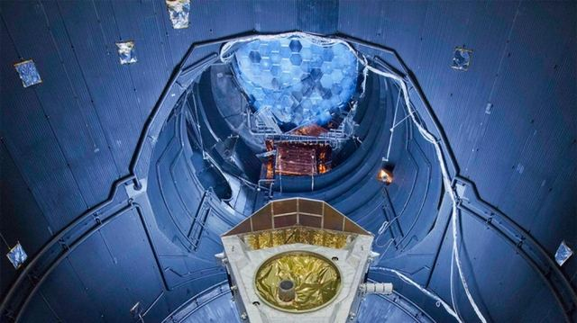 The Large Space Simulator at ESA's test centre in the Netherlands.