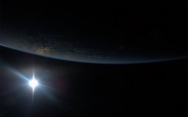 Sunset from ISS.