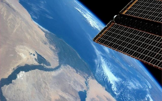 The Nile Delta, from ISS