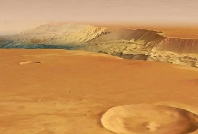 Fly through the largest canyon in the solar system 2
