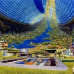 Impressive 1970s NASA Space colonies concept art