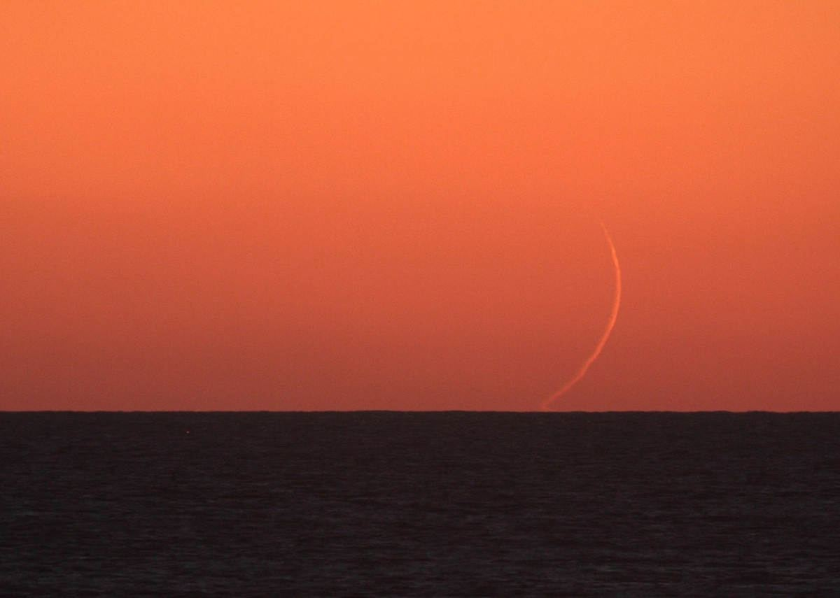 Moonset from Taiwan