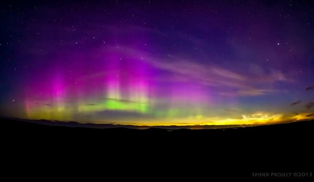 Noctilucent Clouds and Aurora- Together