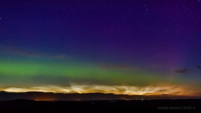 Noctilucent Clouds and Aurora- Together  3