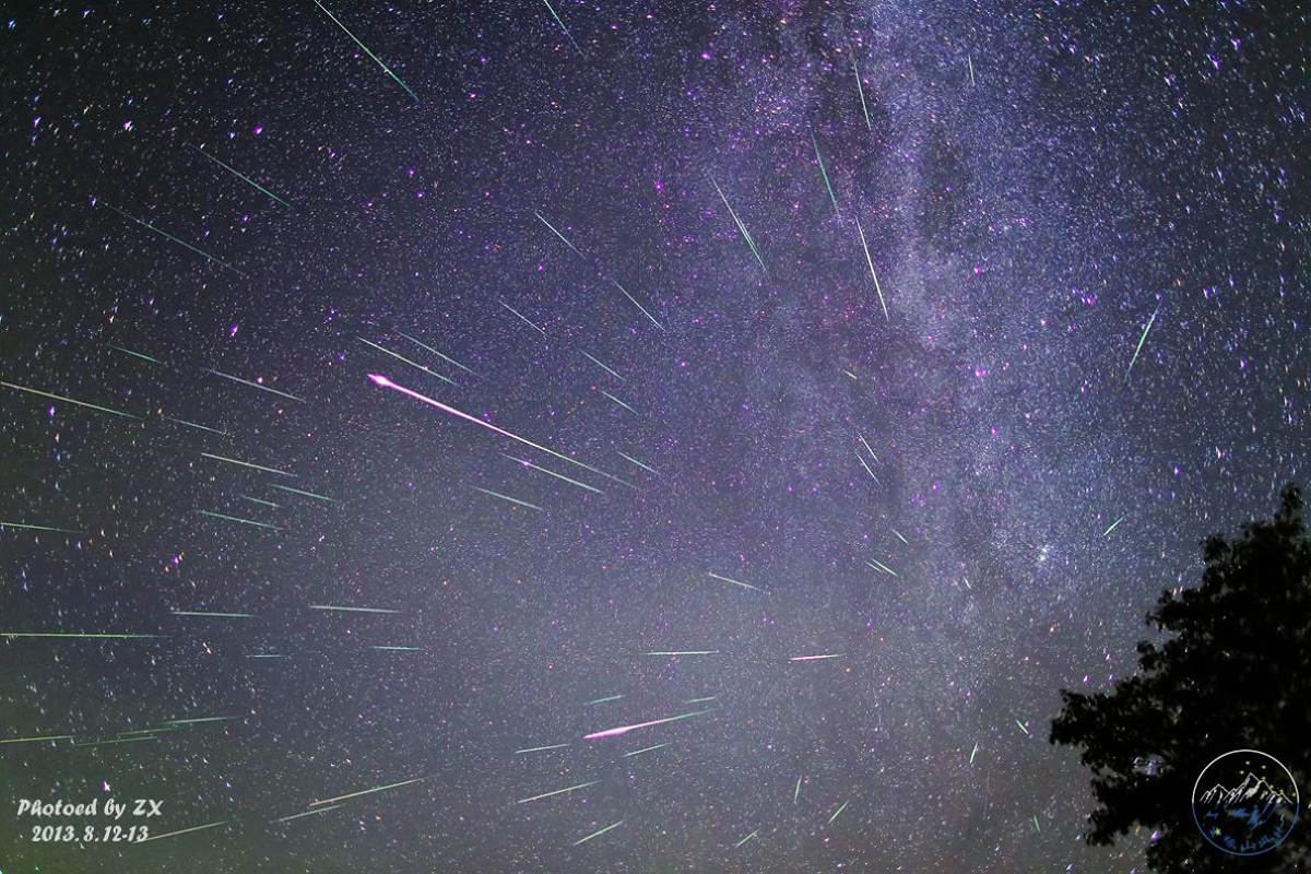 Perseid Meteors over China