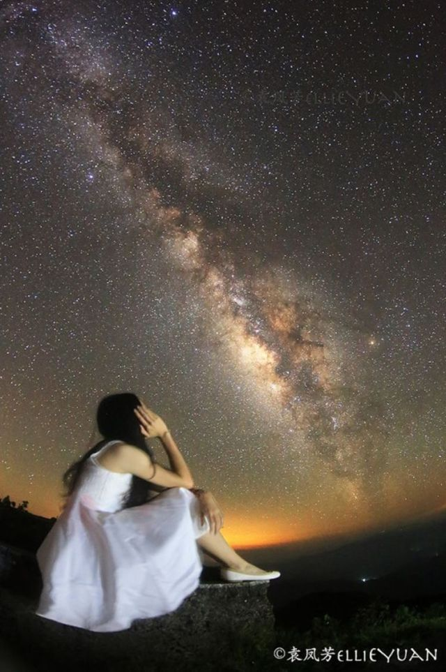The milky way and me © Ellie Yuan