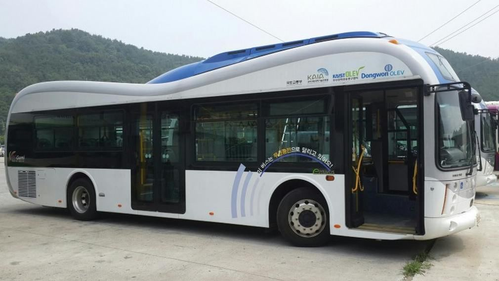 World's First Wireless Electric Bus 1