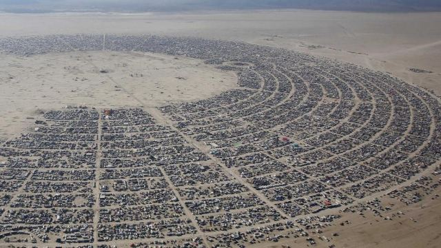 Drone's-Eye Tour of Burning Man 1