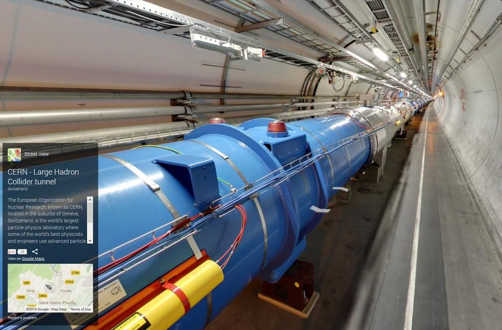 Google Street View takes you inside CERN