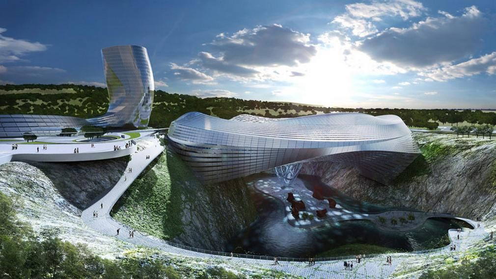 Ice World Dawang Mountain resort by Coop Himmelb(l)au (3)