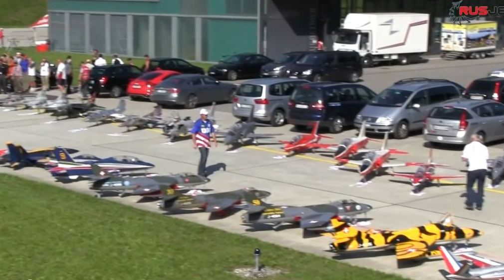 Model Jets at the RC Air Show in Switzerland