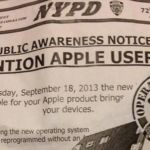 New York Police Department promoting Apple's iOS 7