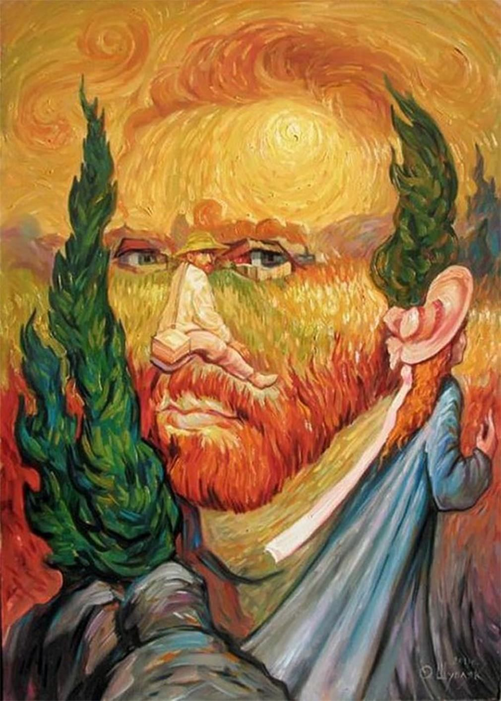 optical illusion paintings illusions van gogh painting amazing famous paint artist vincent nature wordlesstech painted gough cool ilusion things awesome