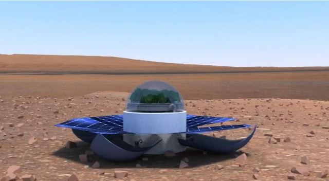 Reusable spinach Greenhouse for Mars by Greek students 1