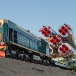 Soyuz rolls out to Launch Pad