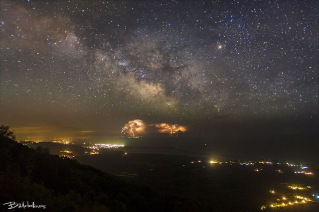 Spring Storm and Milky Way