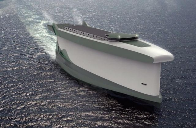 Windship ship concept uses its hull as a sail 1