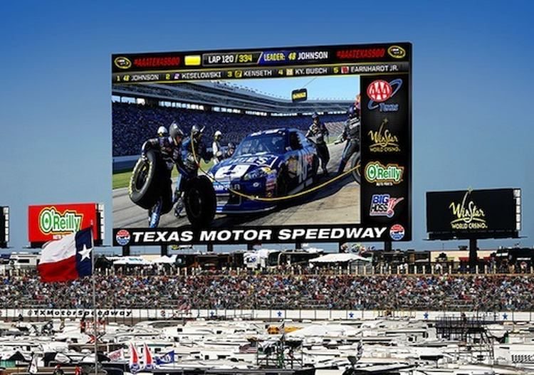 World's largest HD screen in Texas Motor Speedway